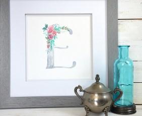 Sam Allen Creates Watercolor Letter Monogram E