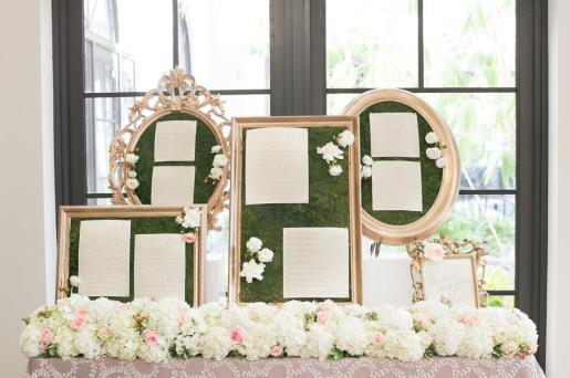 Sam Allen Creates, Handwritten table seating chart. Photo by amalie orrange photography
