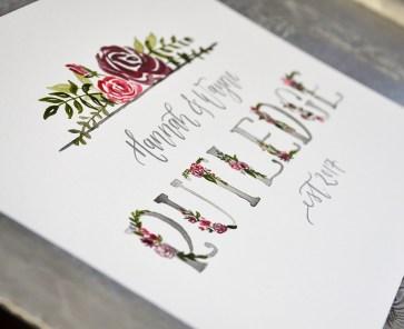 Sam Allen Creates Family Last Name Watercolor Painting - Rutledge detail