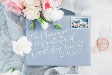 Sam Allen Creates - Disney Inspired Cinderella Wedding Invitation - Reply Card Envelope Addressing