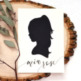 Sam Allen Creates - Handdrawn Papercut Silhouette with Watercolor Brush Calligraphy Name