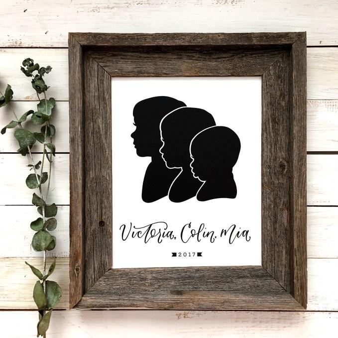 Sam Allen Creates - Handdrawn Papercut Silhouettes of Siblings