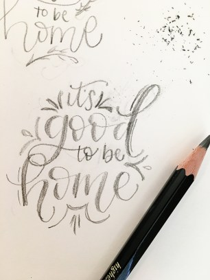Sam Allen Creates - Its Good to Be Home Wall art sketch