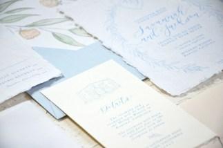 Sam Allen Creates - Handmade Paper Fine Art Wedding Invitation 5
