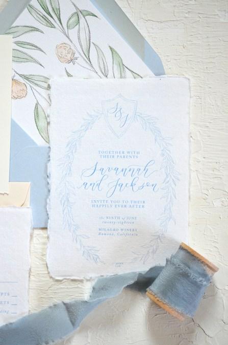 Sam Allen Creates - Handmade Paper Fine Art Wedding Invitation 6