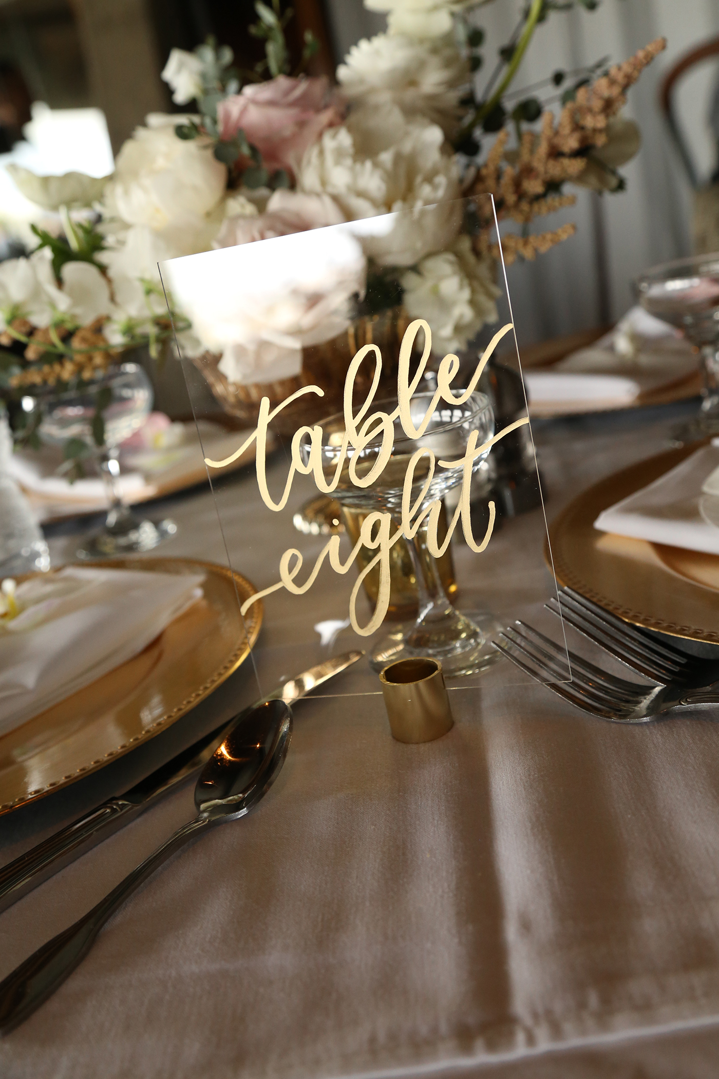 Sam Allen Creates – Acrylic Table Numbers – Photo by Jack Randall