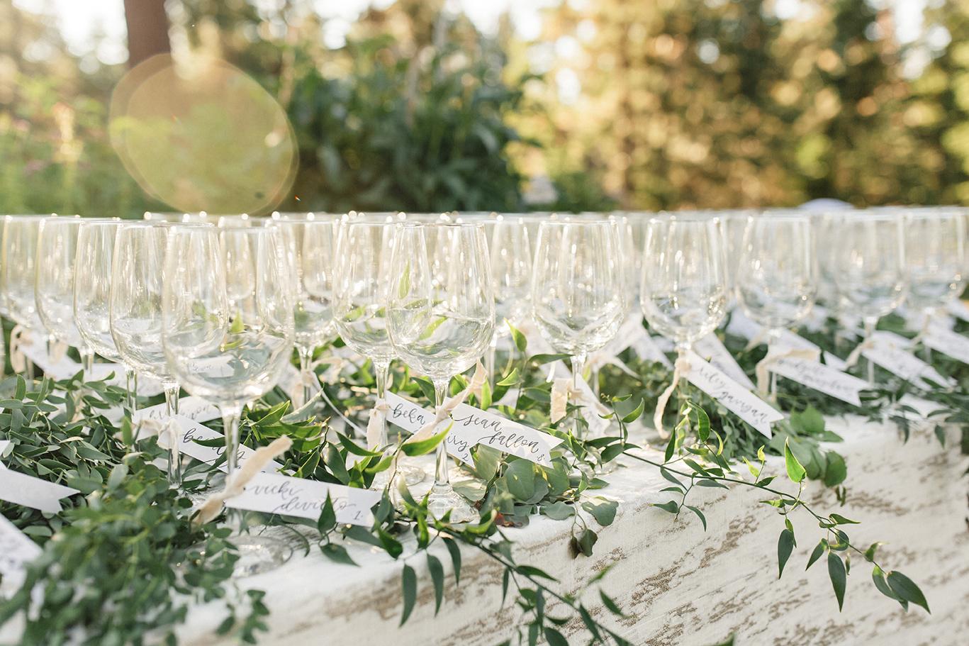 Sam Allen Creates- Watercolor Wedding Reception Placecards – Torrey Fox Photography