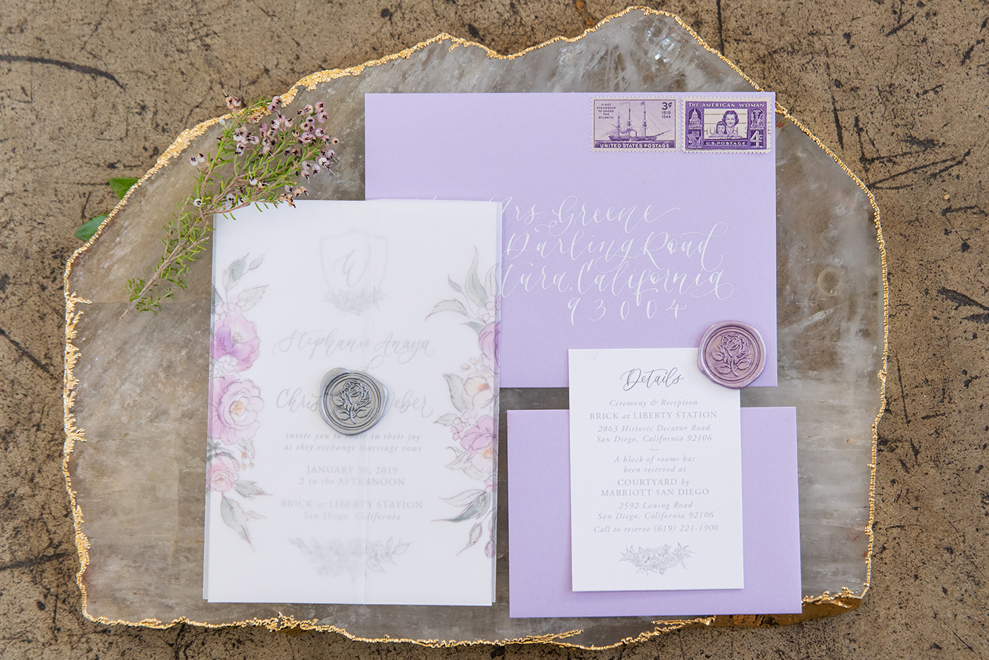 invitation-lavender-and-floral-vellum-wrapped-wedding-invitation-StormyPetersonPhotos