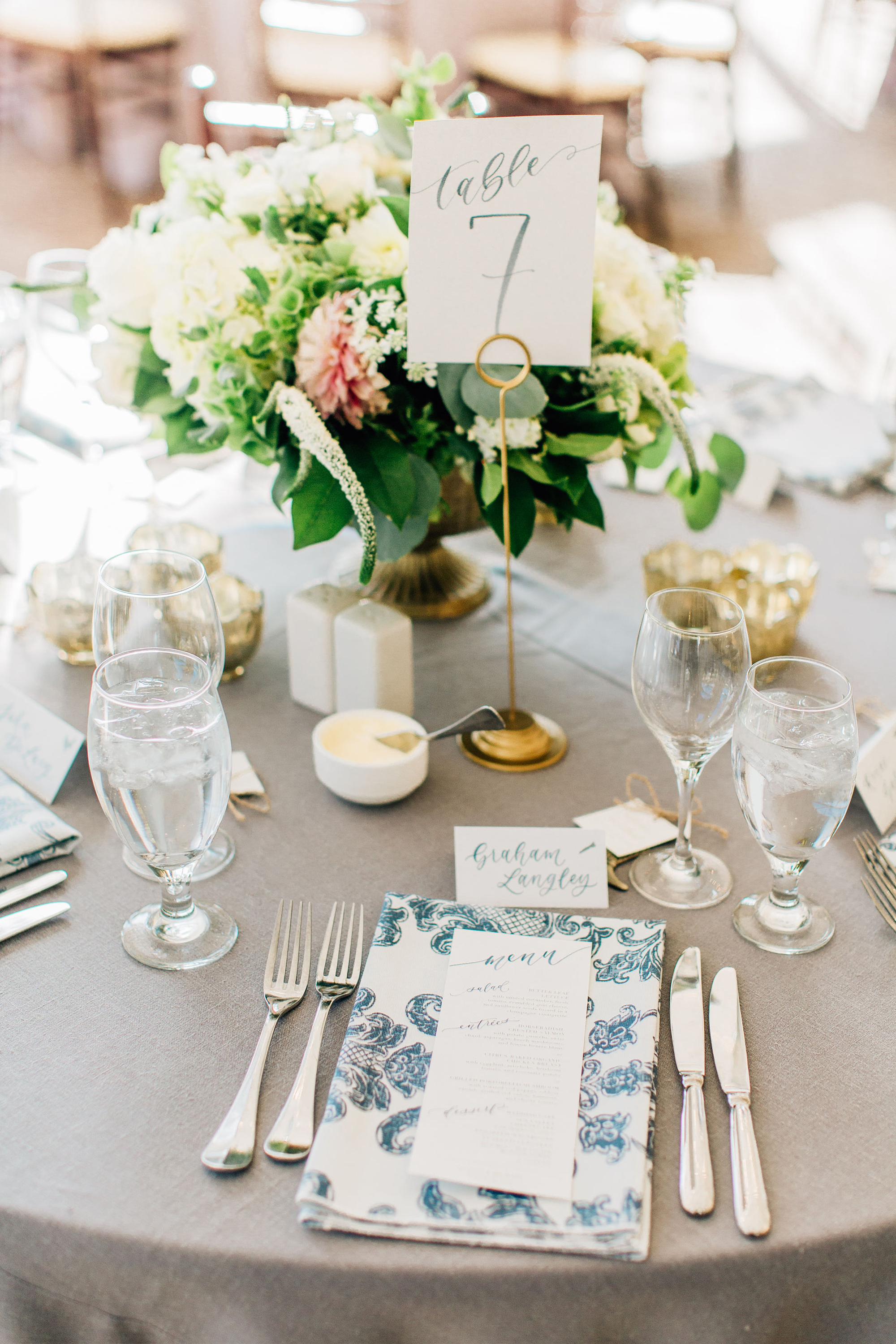 Sam Allen Creates Watercolor Wedding Reception Menu, Table Numbers and Calligraphy Tent Cards, Jenna Bechtholt Photography.jpg