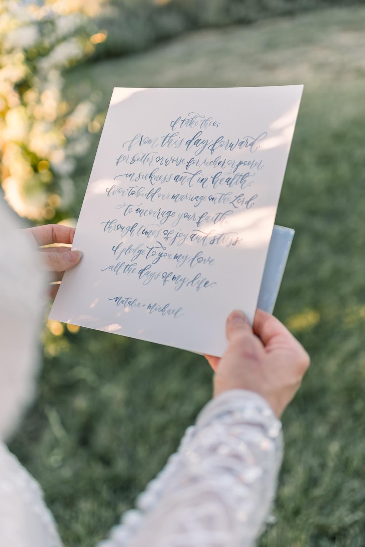 Sam Allen Creates Watercolor Wedding Vows, Victoria Parker Photography