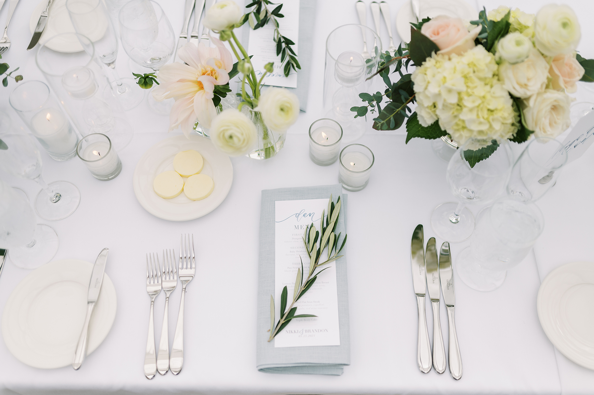 Sam Allen Creates Personalized Watercolor Menu with Guest Name 2