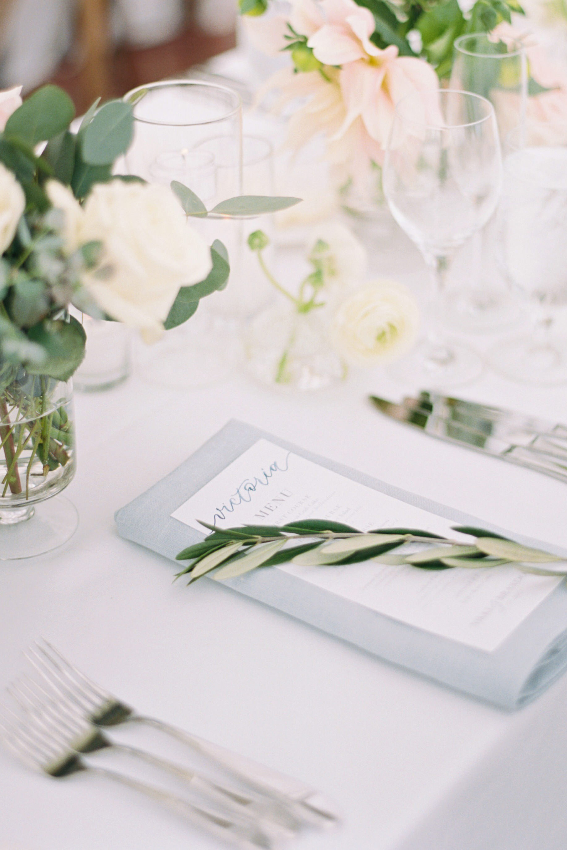 Sam Allen Creates Personalized Watercolor Menu with Guest Name