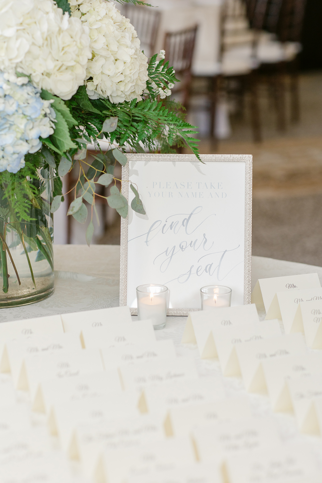 Sam Allen Creates Watercolor Find your Seat Wedding Sign – Katie+Mark-Wedding-781 Lauren Kearns Photography