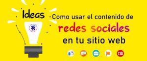 Ideas para usar las publicaciones de redes sociales en tu web 😉