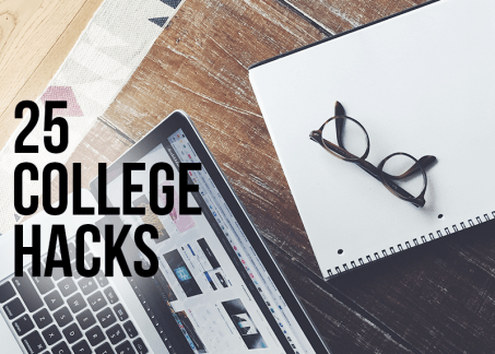 College is hard enough! Use these college hacks to make college easier!