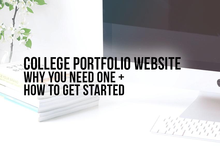 college portfolio website