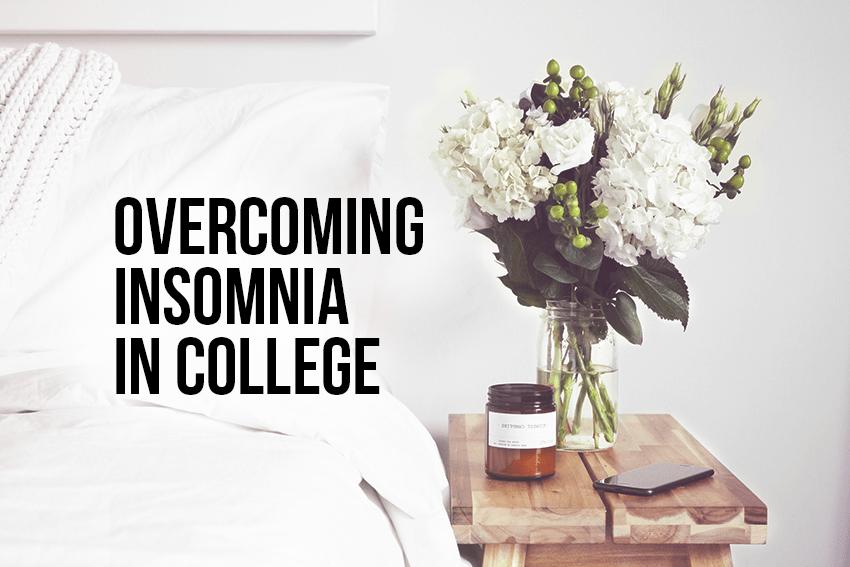 overcoming insomnia in college