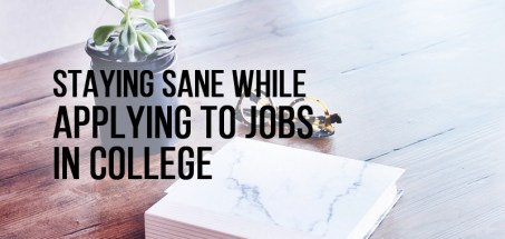 staying sane while applying to jobs