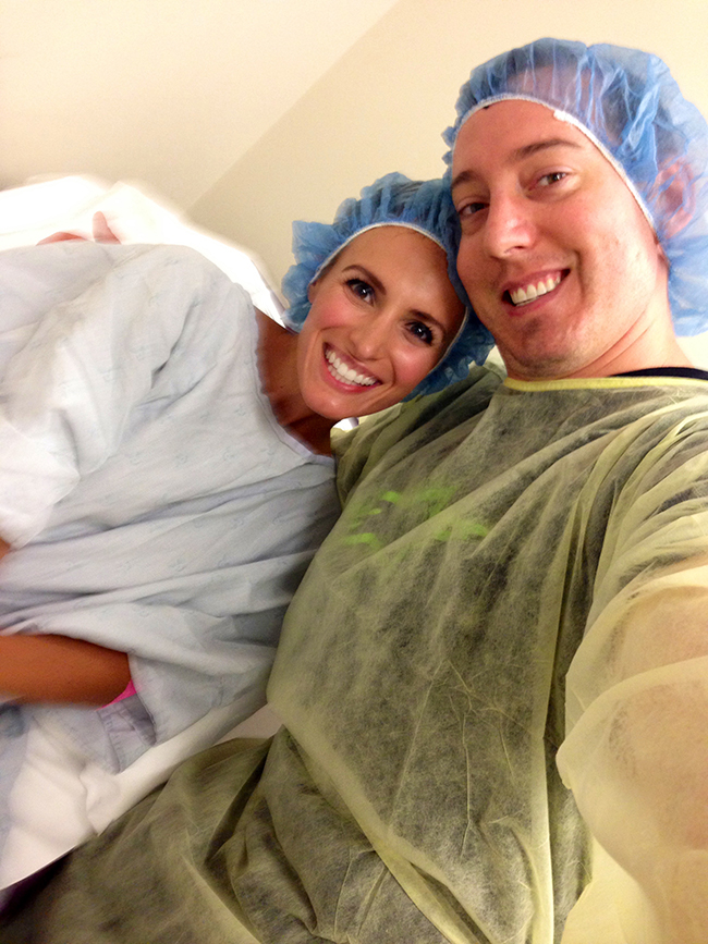 IVF Process. Kyle and I in our gowns