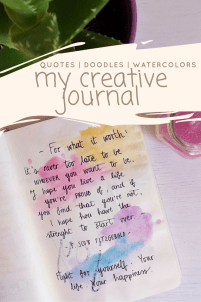 I have a creative diary and you should too, find out more