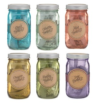 Mason Jar Indoor Herb Garden - Uncommon Goods (2)