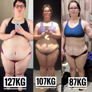 40kg down