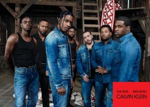 calvin klein ad, group of mostly black guys all in demin