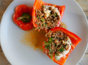 quinoa beef dairy free low carb bell pepper healthy