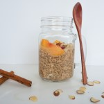 easy gluten free breakfast peach overnight oats