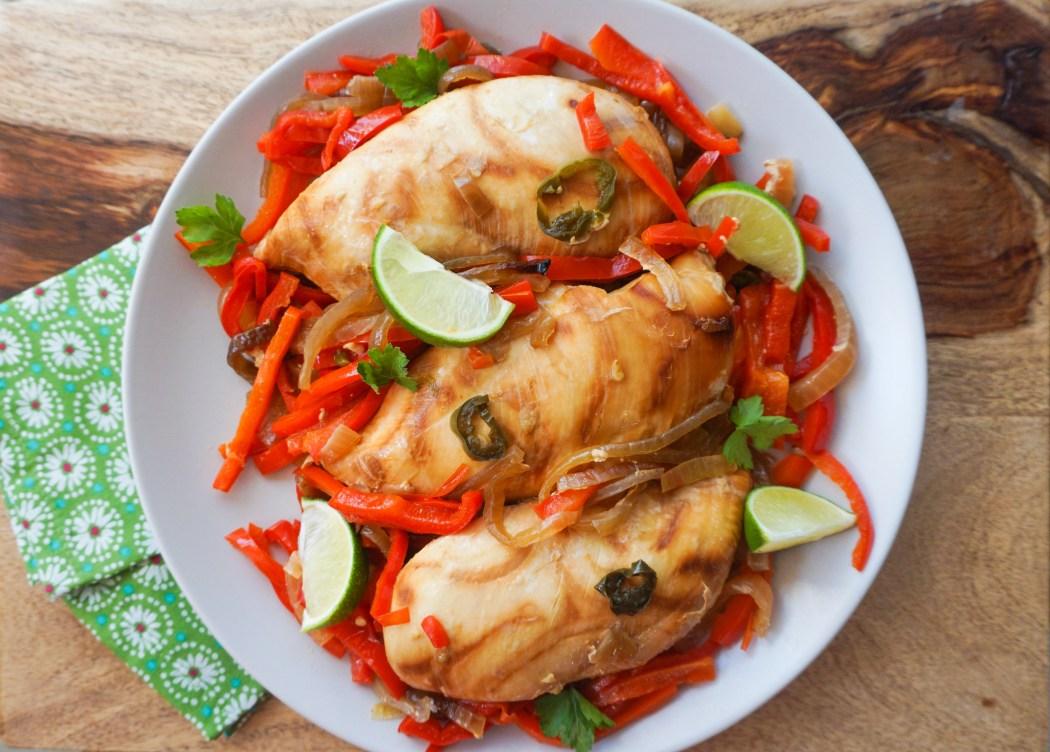 healthy easy fast slow cooker chicken fajitas samantha elaine