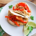 healthy easy fast slow cooker chicken fajitas samantha elaine