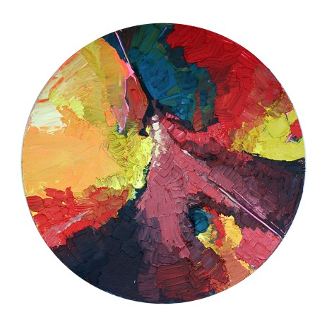 "Terraced Ground Acrylic on Canvas 40"" Diameter 3000.00"