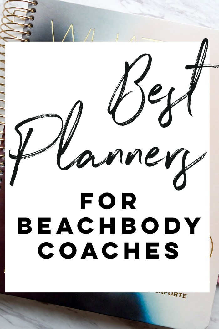 The Search For The Best Beachbody Coach Planner