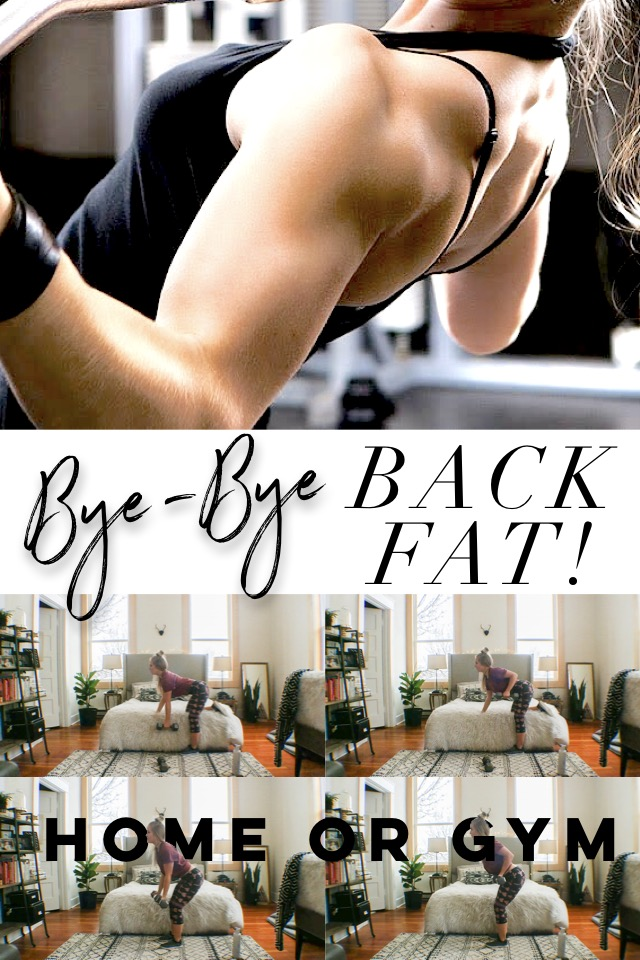 How To Get Rid Of Back Fat – Bye-Bye Back Fat Workout