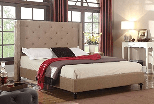 cheap upholstered bed