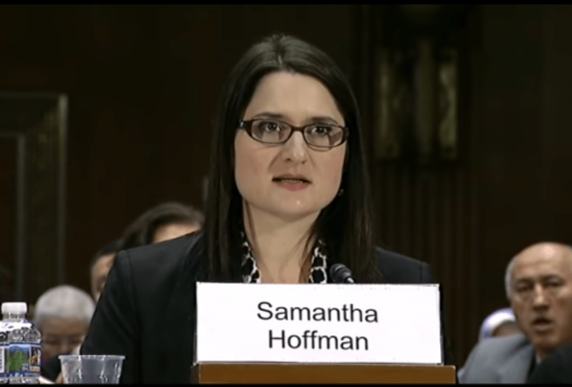 28 November 2018 Congressional-Executive Commission on China Hearing on The Communist Party's Crackdown on Religion in China (Image: Samantha Hoffman, 2018).