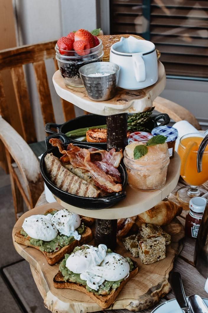 Balcony Breakfast in Whistler