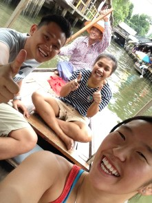 Selfies with our new friend, Wi; Bangkok