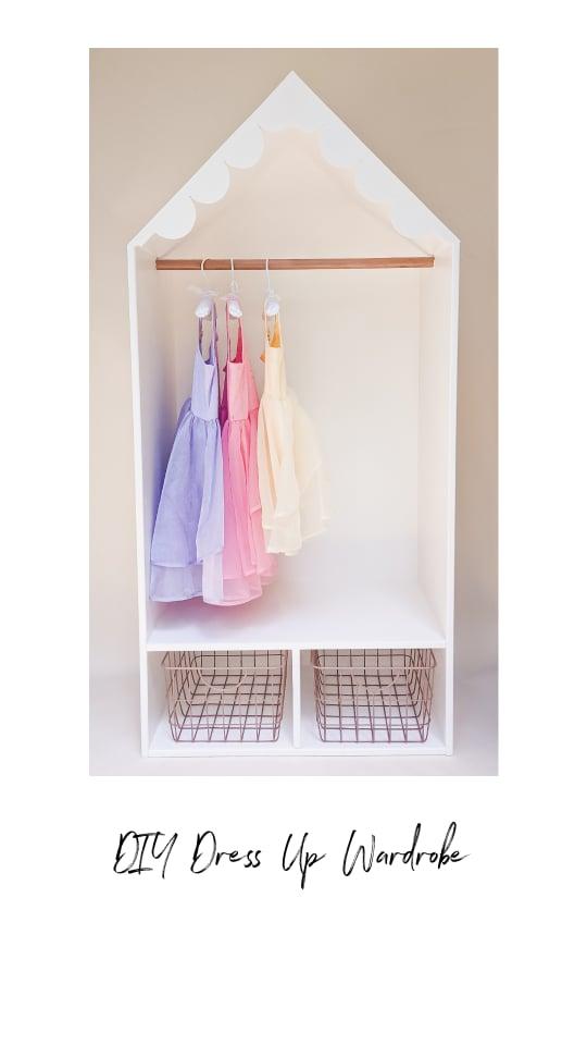 DIY Dress Up Play Storage / Wardrobe