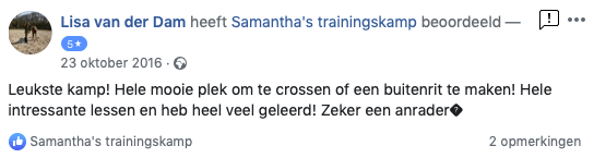 Review Samantha's Trainingskamp