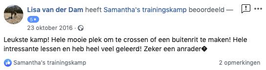 Review Samantha's Trainingskamp