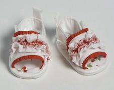 R/W Ruffle Sandals