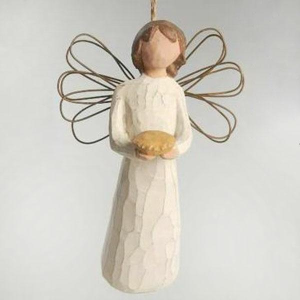 Angel of Hearth Ornament by Willow Tree
