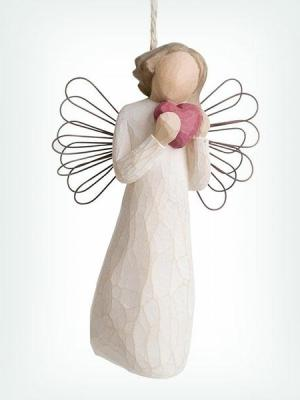 Angel of Heart Ornament by Willow Tree