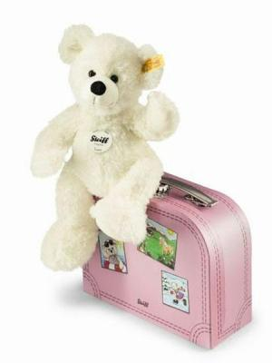Lotte Teddy Bear In Pink Suitcase