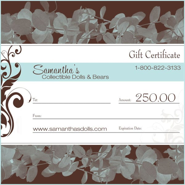 $250.00 Gift Certificate