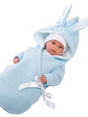 Crying Soft Body Baby Doll Aaron with Hooded Bunny Jacket