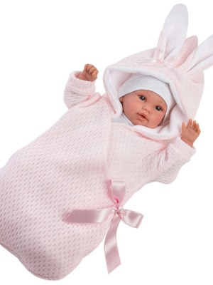 Crying Soft Body Baby Doll Avery with Hooded Bunny Jacket