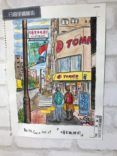 nippori textile town - tomato fabrics watercolor
