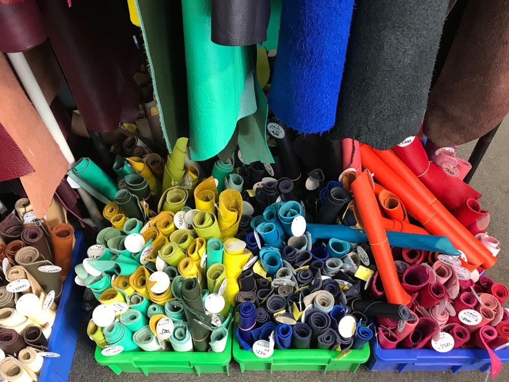 nippori textile town - leather